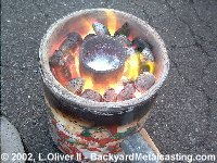 hot pot of molten metal