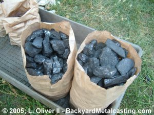 Two bags of real coal