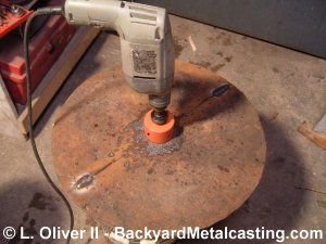 Using a holesaw