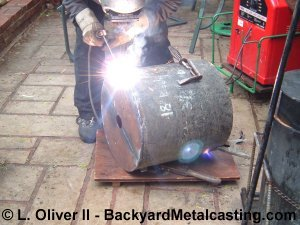 Welding the base on