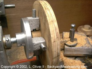 quick homemade 4-jaw chuck