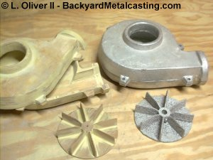 Air blower patterns and castings