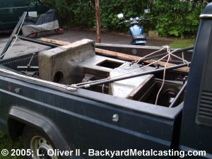 The milling machine in the pickup truck