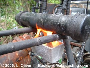 A Homemade Waste Oil Burner